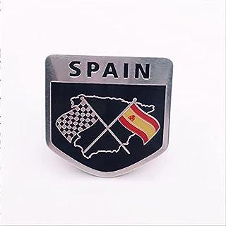 Bescalor Spaanse nationale vlag Spanje embleem auto stickers (Color Name : 5cmx5cm)