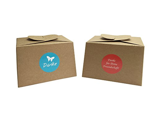 12Boxes Made of Cardboard + 24Gift-Wrapping Stickers for Cakes, Cookies, Cupcakes and All Types of Gifts
