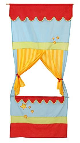 roba-kids - Teatro de guiñol de tela para puerta, multicolor (Roba Baumann 7101)