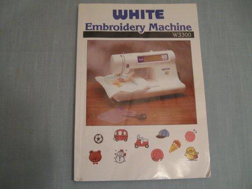 white embroidery machine w3300 - 1