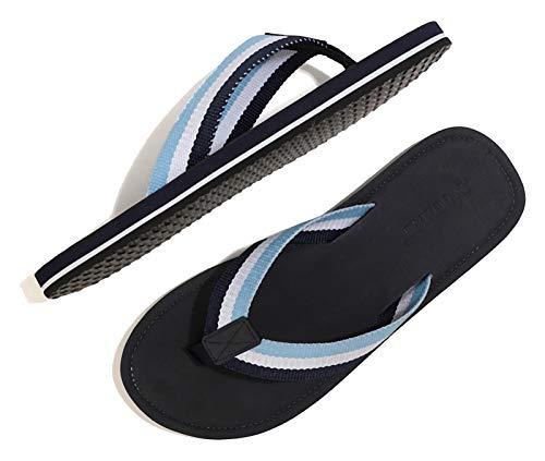 ARRIGO BELLO Chanclas Hombre Flip Flops Verano Playa Piscina Sandalias Al Aire Libre Vacaciones Ducha Gimnasio Cómodo Zapatos Talla 40-46 (Azul Claro, Numeric_43)