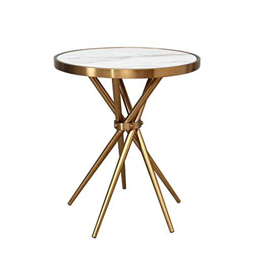Gehumaniseerd ontwerp Kleine ronde tafel, Golden antitrust marmeren tafel Office Cafe Sales Department Receptie decoratieve ornamenten Glad aanrecht (Color : A, Size : 50 * 75CM)