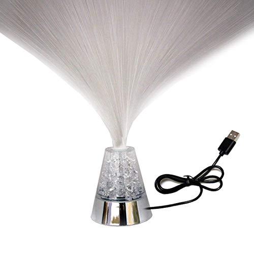 Lampe à fibre optique à changement de couleur USB ou à piles Décoration de fée Veilleuses Lampes de fantaisie pour les mariages dans les chambres à coucher (sans télécommande))