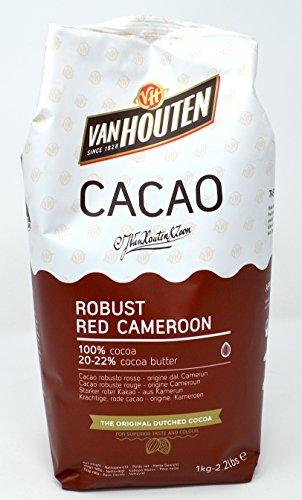 Van Houten - Robust Red Kamerun Kakao-Pulver (20-22% Kakaobutter), 1 x 1 kg