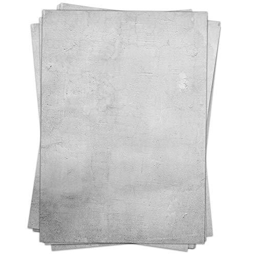 Briefpapier Motiv GRAUE WANDSTRUKTUR - 50 Blatt, DIN A4 Format - Papier beidseitig bedruckt, Beton-Look