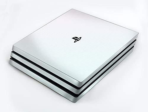 atFoliX Skin kompatibel mit Sony PlayStation 4 Pro PS4 Pro, Designfolie Sticker (FX-Carbon-Bicolor-Pearl), Carbon-Struktur / Carbon-Folie