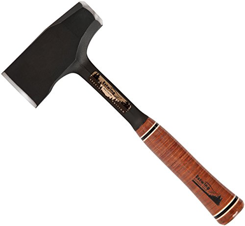 """Estwing Special Edition Fireside Friend Axe - 14"""" Wood Splitting Maul with Forged Steel Construction & Genuine Leather Grip - EFF4SE"""
