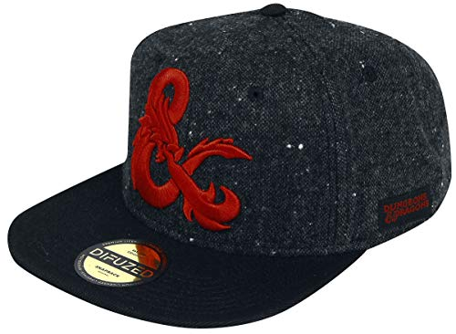 Dungeons and Dragons Baseball Cap Ampersand Logo Official Black Snapback