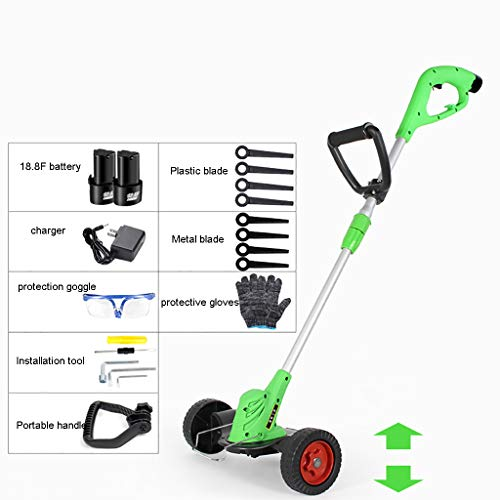 Lowest Price! YF-1 Cordless Grass Trimmer Li-Ion 23 cm Cutting Width 6500 RPM Rotating and Tilting M...