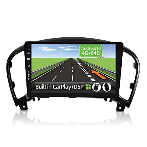 YUNTX Android 10 2 Din Autoradio per Nissan Juke YF15 Infiniti ESQ(2011-2017)-4G+64G-[Integrato CarPlay/Android auto/DSP]-Gratuiti 4LED Camera-Supporto DAB/Controllo del Volante/360 Camera/MirrorLink