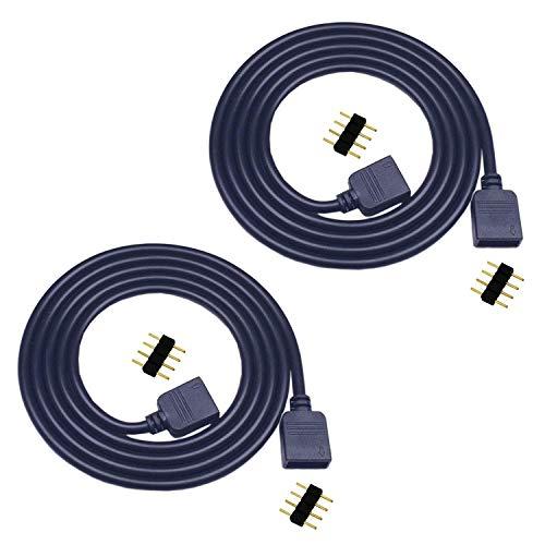 2x 5m LED Streifen Verlängerungskabel 4 polig RGB LED Verbinder 5050 RGB LED Band Verlängerung 3528 RGB LED Schnellverbinder LED Stripe Verbindungskabel LED Strip Verteiler LED Band Verbindung,Schwarz