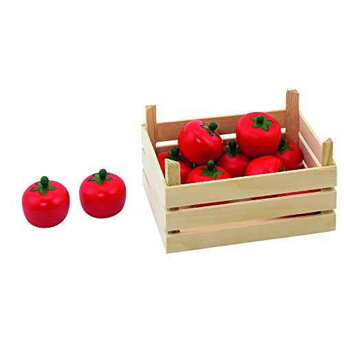 Goki 51676 - Kaufläden und Zubehör - Tomaten, Gemüsekiste