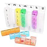 Powerking Boîte à pilules, organisateur de pilules de voyage de 7 jours pour contenir des vitamines, de l'huile de poisson, des suppléments et des médicaments sans BPA