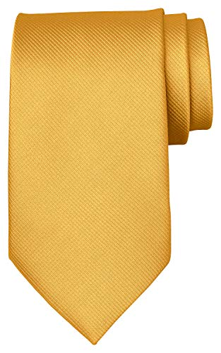 BomGuard Corbata para hombre, 8 cm de ancho, en mate Rips Trendy Tie, amarillo, Talla única