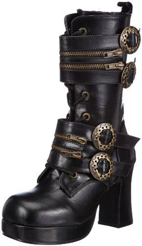 Demonia GOTHIKA-100 Damen Stiefel, Schwarz (Blk Vegan Leather), EU 36 (UK 3) (US 6)