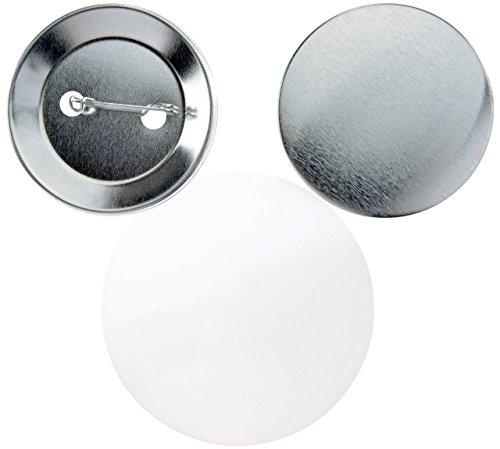 Buttonrohlinge 55mm (100 Stück) für mit Sicherheitsnadel für IBP-Schollenberger Buttonmaschinen