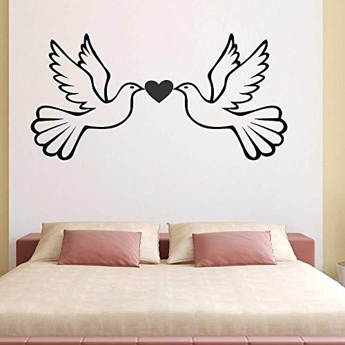 Amor pájaro pegatinas de pared dormitorio artista decoración del hogar habitación de bebé jardín de infantes vinilo ventana calcomanías pájaro creativo animal mural