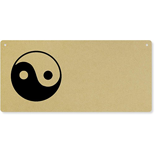 Azeeda 'Yin Yang Symbol' Large Wooden Wall Plaque/Door Sign (DP00030020)