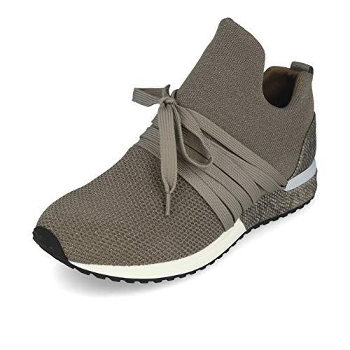 La Strada 1804297 Sneaker Knitted Taupe Silver 41