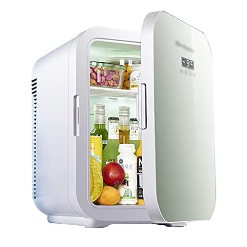 Mini Refrigerador con Congelador Refrigerador De Doble Capa De Una Puerta Refrigerador para Automóvil Refrigerador De Belleza 22L -15 ℃ Congelación Bajo Nivel De Ruido