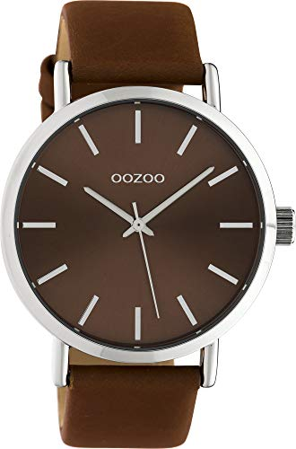 Oozoo Damenuhr mit Lederband 42 MM Colours of Oozoo Unicolor Braun C10450