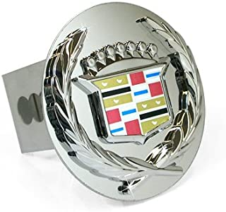 Au-tomotive Gold Chrome Logo Tow Hitch Cover Plug for Cadillac - Old Logo
