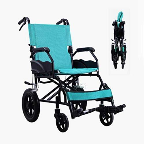 ZZR Medizinischer Rollstuhl - 120kg Gewicht-Kapazität bequemer Wideth-Sitz, faltender Leichter Transport-Aluminiumstoß-Rollstuhl für Erwachsenen, begleitende Rollstühle
