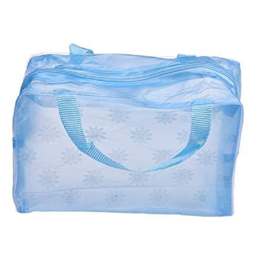 HWTOP Kosmetiktasche Handtaschen Tragbare Make-up Blumentasche Kosmetik Toilettenartikel Reise Wash Zahnbürste Pouch Organizer Bag Transparente Wasserdichte mit Blumenmuster