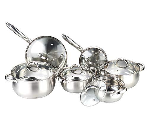 Heim Concept Cookware Set W-001 12-Piece Stainless Steel