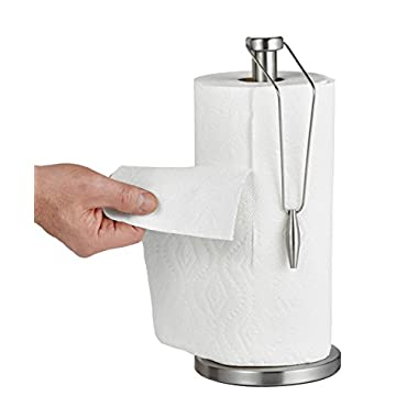 Alpine Industries Stainless Steel Paper Towel Holder with Slip-Resistant Base