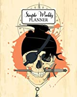 """Simple Weekly Planner: Weekly Vibrant Calendar, Organizer, Scheduler, Productivity Tracker, Priority Task, Weekly Goal, To-Do List, Size 8"""" x 10"""" 