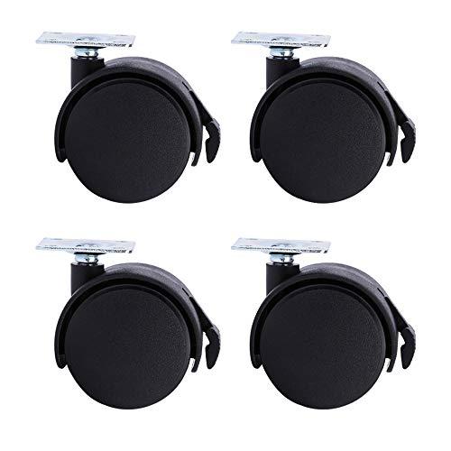 WANGTX (4 stücke) 1,5 Zoll bremsrad schwarz Nylon stumm Rad Caster für möbel couchtisch blumentopf nachttisch