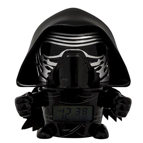 BulbBotz Star Wars 2021388 Kylo Ren Kinder-Wecker mit Nachtlicht und typischem Geräusch , schwarz/grau , Kunststoff , 14 cm hoch , LCD-Display , Junge/ Mädchen , offiziell