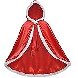 LIUXING-Home Exquisite Costume pour Enfants Princesse Cloak Cloak Châle Filles Costume Châle Princesse Holiday Party Dresses Up (Color : Red, Size : 140cm)