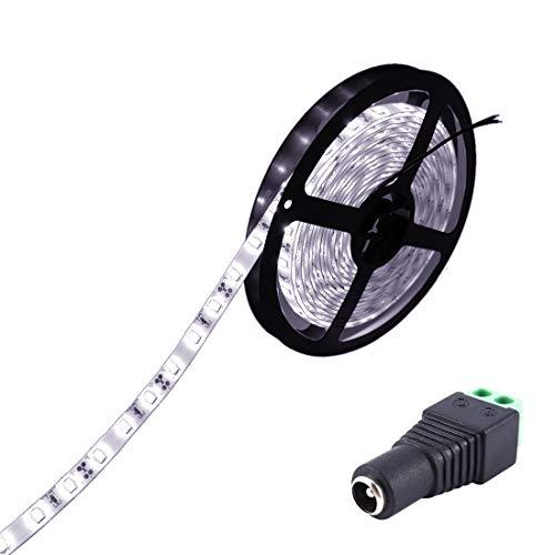 JOYLIT Striscia LED Bianco freddo SMD5630 300led IP65 impermeabile 5 metri DC 12V di altezza striscia di led per decorazione di armadio da cucina, camera da letto