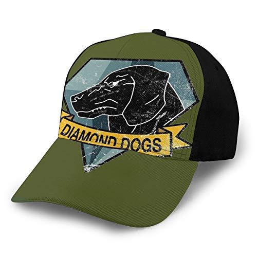 KEEHUA Metal Gear Solid - Diamond Dogs Unisex Classic Hat Men Women Adjustable Baseball Cap Black
