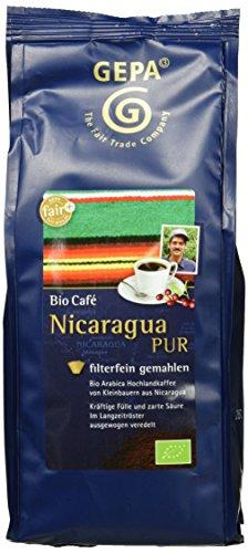 Gepa Bio Kaffee Nicaragua Pur, 3er Pack (3 x 250 g)