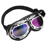Cubaby Upgrade Harley Dog Goggles,Adjustable Pet Sunglasses,Windproof/UV Protection Dog Glasses for Medium and Large Dog (Multi-Coloured)