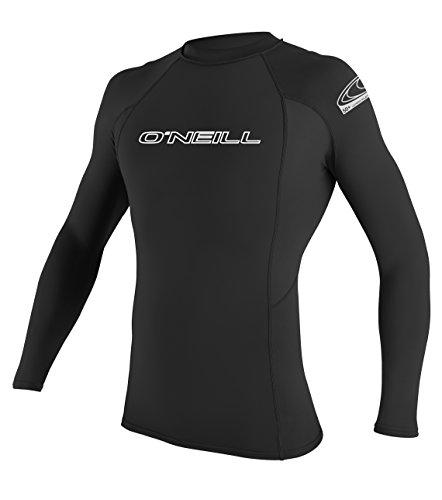 O\'Neill Wetsuits Herren Basic Skins L/S Crew Rash Vest, Black, L