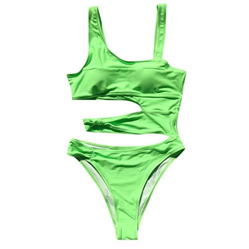 Dames Badpak Uit ééN Stuk Effen Kleurblok Rugloze Goedkope Surf Bikini Push Up Bikini Voor Mollige Strandjurk Sportbikiniset Beachwear