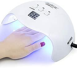 Gel UV LED Nail Lamp,LKE Nail Dryer 40W Gel Nail Polish LED UV Light with 3 Timers Professional Nail Art Tools Accessories White