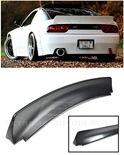 for 1989-1994 Nissan 240SX S13 Hatchback   EOS Rocket Bunny Style ABS Plastic Primer Black Rear Trunk Lid Wing Lip Spoiler