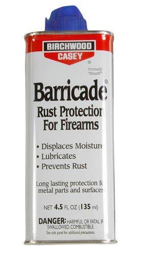 New Birchwood Casey Barricade Liquid Rust Protection for Firearms 4.5 Oz
