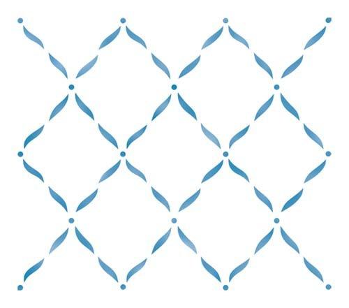 Designer Stencils Ribbon Lattice Wall Stencil SKU #1807