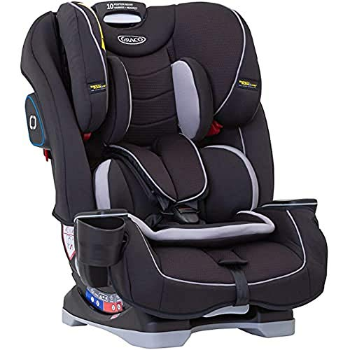 Graco Slimfit All-in-One Combination Car Seat, Group 0+/1/2/3 (Birth to 12 Years Approx, 0-36 kg), Black