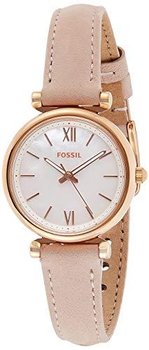 Fossil Damen Analog Quarz Uhr mit Leder Armband ES4699