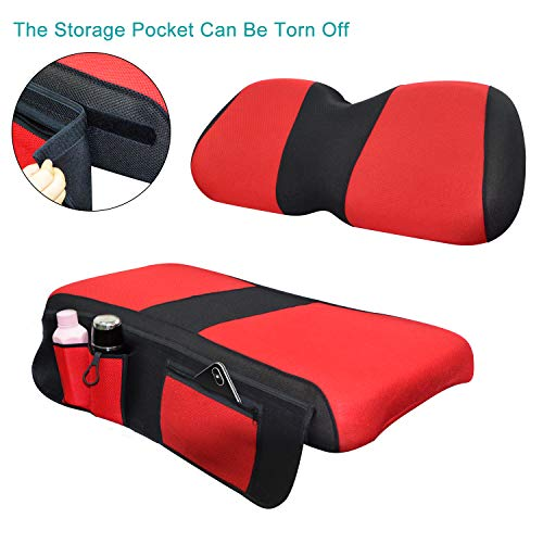 red and black bench seat cover - 2