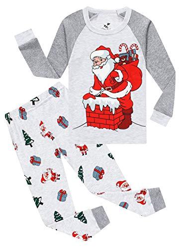 Christmas Pajamas For Boys Girls Santa Claus Sleepwear Toddler Kids Gift Pants Set Baby Clothes 12t