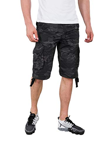 Alpha Industries Herren Shorts Jet Camouflage W 32