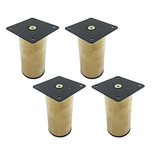 LMZJLU Patas de Muebles Patas de Mesa de Metal Patas de Hierro para Muebles Patas de Repuesto para elevadores de Muebles Patas de sofá Patas de Escritorio para sofá Armarios de Cama Elevadores con